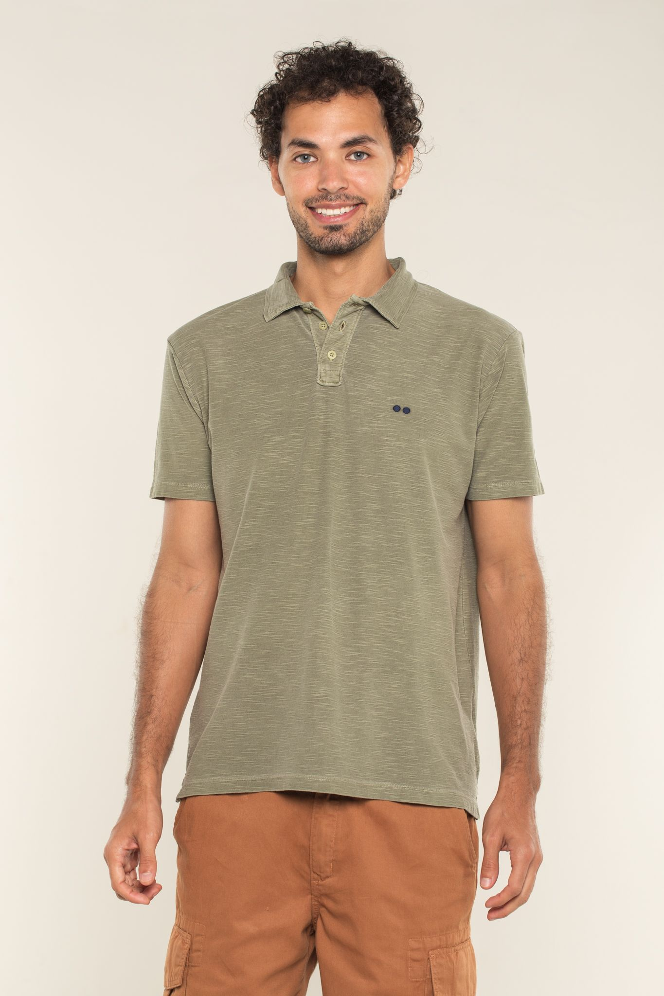 CAMISA POLO JUST VERDE MUSGO